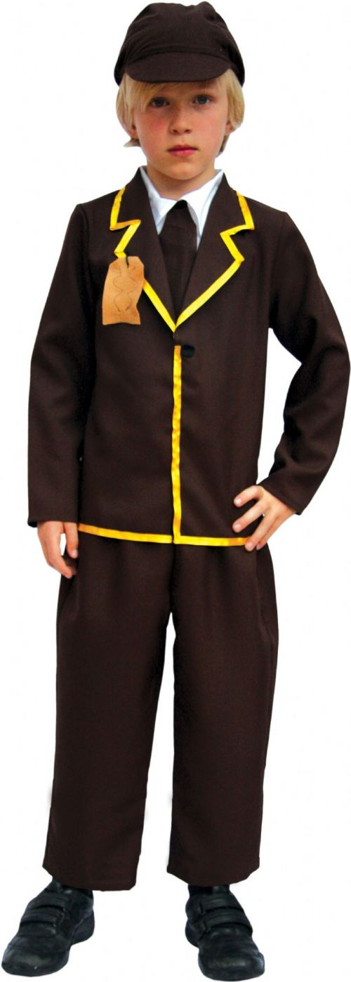 Boys Costume WWII Child Schoolboy Schoolgirl Narnia Fancy Dress Outfit